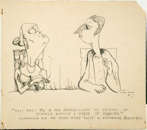 """Duncan McPhee, Illustration for the short story """"Bliss"""" by Katherine Mansfield, 1944"""