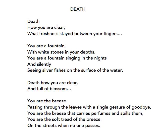 Original translation of Sofia de Mello 'Morta'